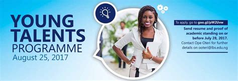 Lbs Mba Calendar by Lagos Business School Talents Programme 2017 For