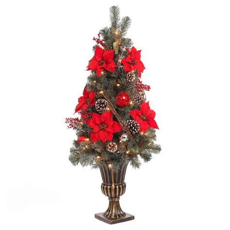 4 ft tree home accents 4 ft poinsettia and twig