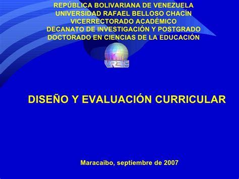 Diseño Curricular Y Evaluacion Dise 241 O Y Evaluaci 243 N Curricular