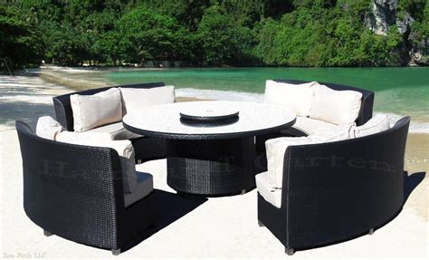 round patio couch elegant outdoor wicker sofa round dining set patio