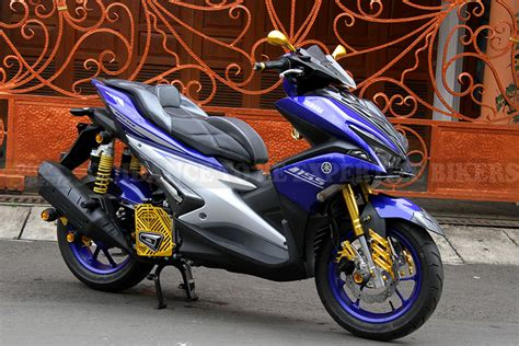 Knalpot Racing Honda Pcx 150 Akrapovic Gp1 Rainbow 3 modifikasi yamaha nmax thailook from cakung