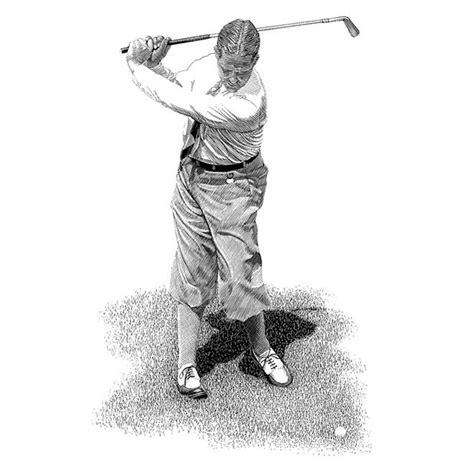 bobby jones golf swing golf portraits archives golf illustration