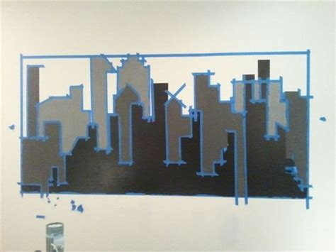 gotham city wall mural gotham city chalkboard paint and murals on