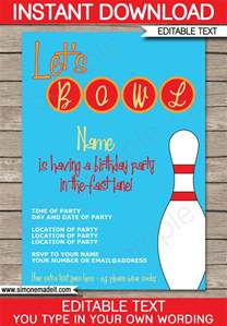 bowling invitation template bowling invitations gangcraft net