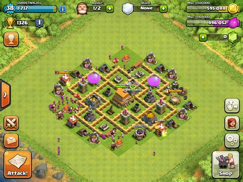 strong defense base th6 clan war bases ocelots
