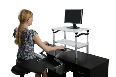 standing computer desk amazon uncaged ergonomics liftb lift tall adjustable height
