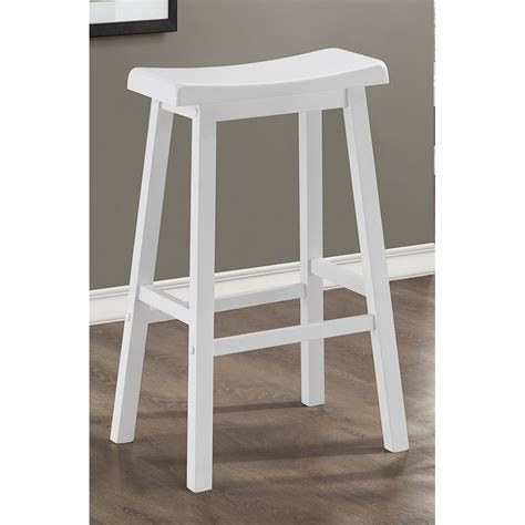 White Saddle Seat Bar Stools by Simple Saddle Seat Bar Stool Nyctophilia Design
