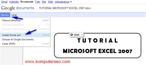 tutorial excel 2007 lengkap bahasa indonesia download tutorial microsoft excel 2007 bahasa indonesia