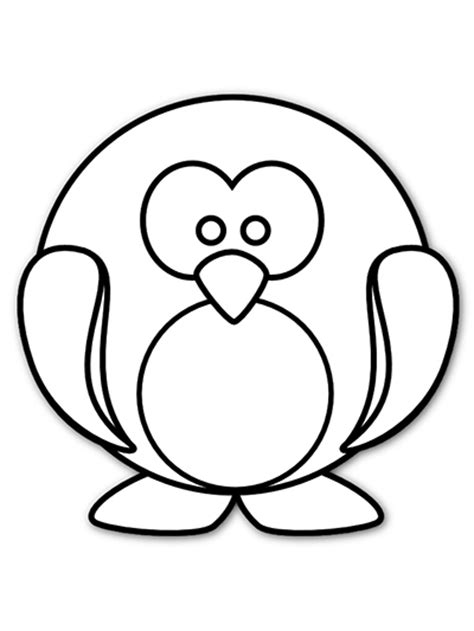 free coloring pages of cartoon penguins