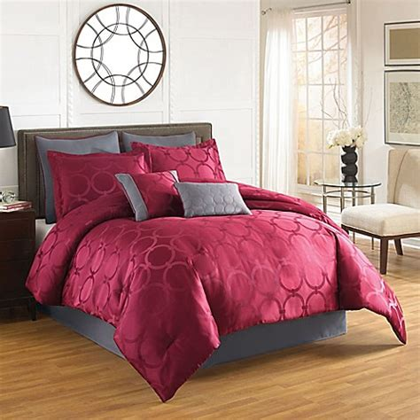 red comforter twin buy aryn 6 piece twin comforter set in red from bed bath