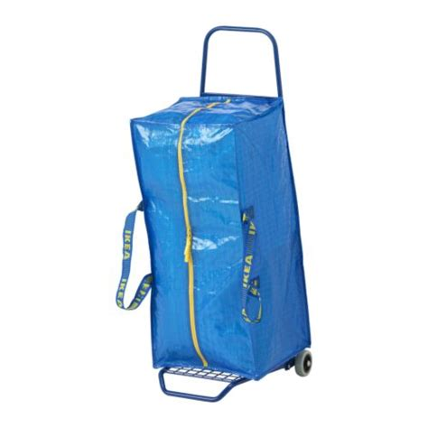 frakta shopping bag ikea zippered frakta zipper storage shopping laundry tote bag blue ebay