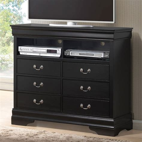 Bedroom Tv Media Chest Louis Philippe Media Chest Black Media Chests