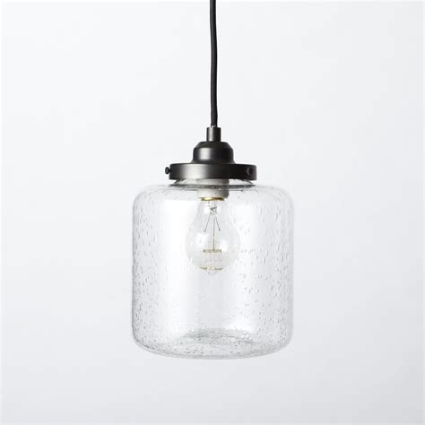 west elm pendants bubble glass jar pendant short west elm uk