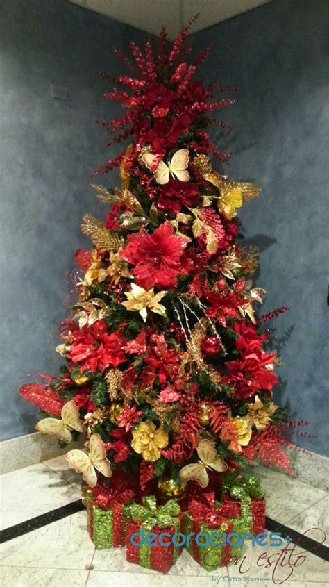 decoracion rojo y dorado 193 rbol de navidad decorado en rojo y dorado 2013
