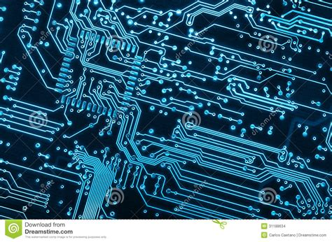 circuit board stock photo image of detail design