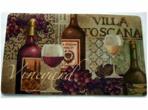 Vineyard Kitchen Rugs Tuscan Wine Grapes Kitchen Rug Cushion Mat