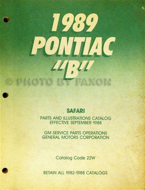 auto repair manual free download 1989 pontiac safari engine control 1989 repair shop manual caprice safari custom cruiser estate wagon