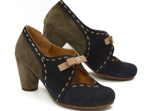 Chie Miharas Bonne Chance by Chie Mihara Gretchen In Cocoa Blue Suede Ped