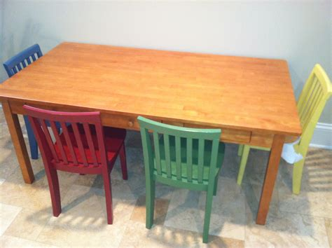 pottery barn table and chairs pottery barn carolina craft table 4 chairs 150