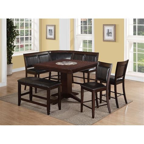 4 piece dining room set harrison brown 4 piece counter height dining set