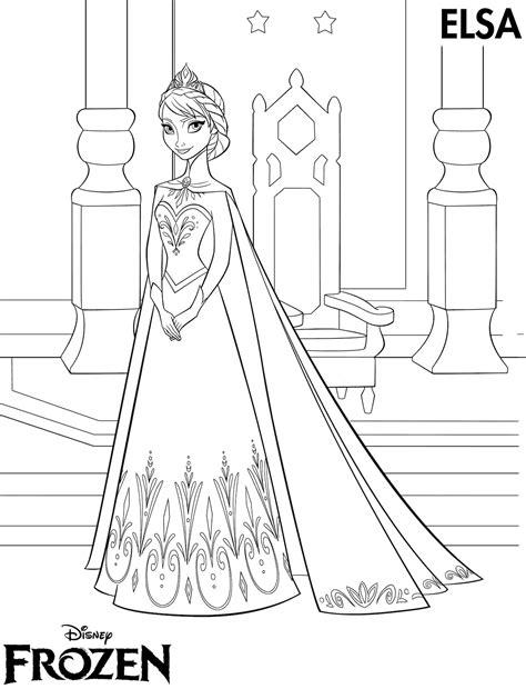 Kumpulan Gambar Mewarnai Kartun Elsa Terbaru | Kolek Gambar