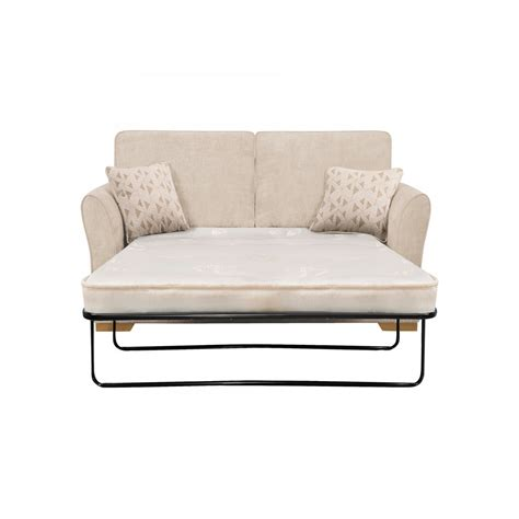 sofa and bed two in one jasmine 2 seater sofa bed with deluxe mattress in cosmo linen