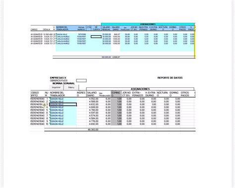 plantilla de nmina para rellenar en excel plantilla en excel para c 225 lculo de nomina bs 2 350 00