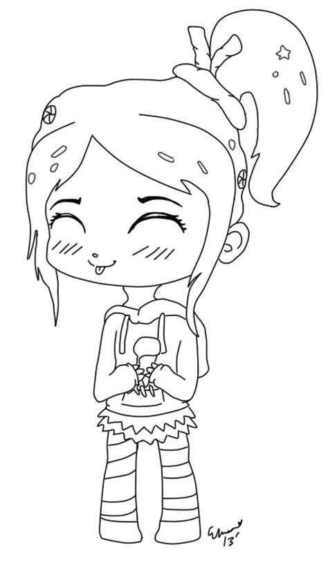 vanellope free coloring pages