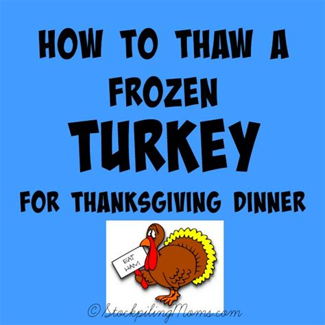 how to thaw a frozen turkey