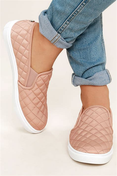 Steve Madden Quilted Slip On Sneakers by Steve Madden Ecntrcqt Blush Quilted Sneakers Slip On