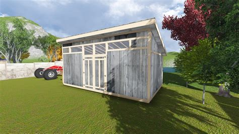 contemporary shed plans 12x22 modern shed plan
