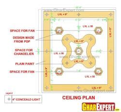 False Ceiling Plan by Pop Simple Flower Design Gharexpert Pop Simple Flower Design