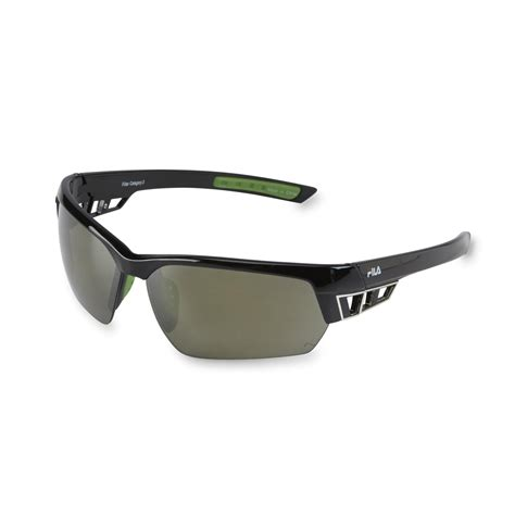 semi rimless sunglasses fila s semi rimless wrap sunglasses