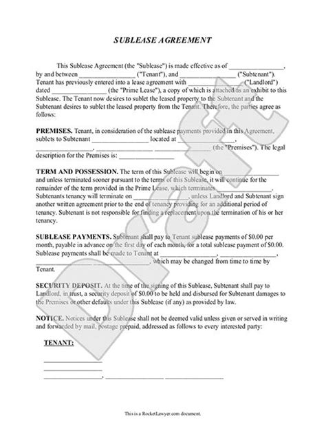 office sublease agreement template sublease agreement form sublet contract template with