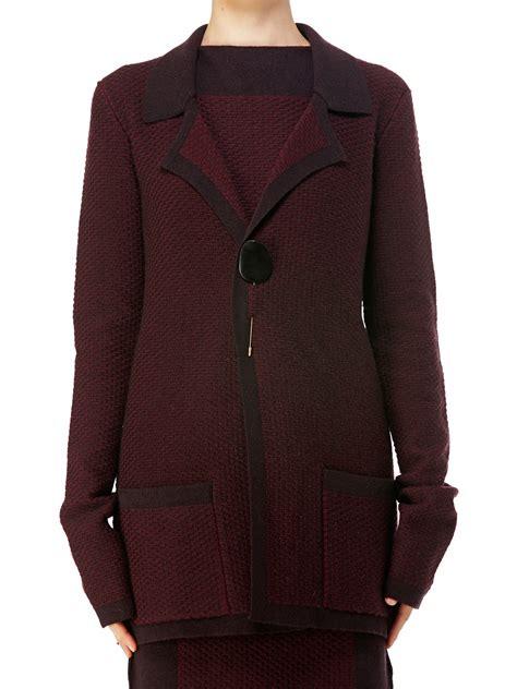 maiyet sleeve cardi jacket in purple lyst