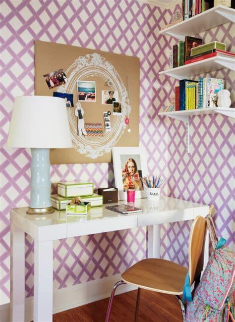 teen vogue bedroom lattice wallpaper contemporary girl s room teen vogue