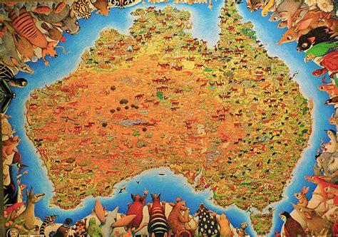 Australian Home Decor Blogs by Australia Animals Map Photograph By Girish J