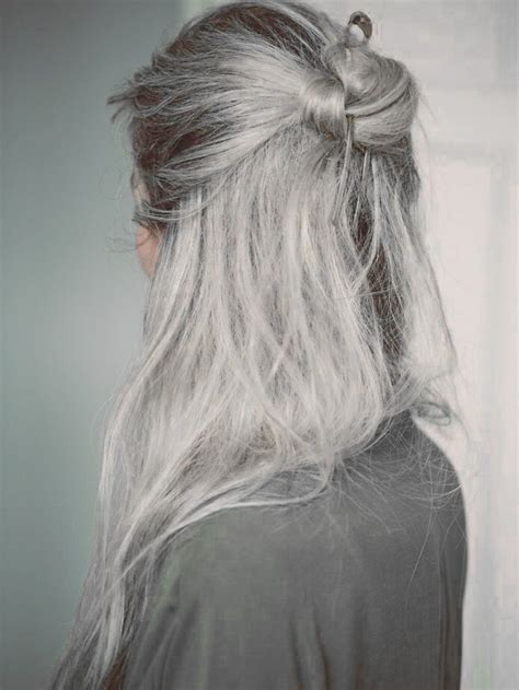 salt and pepper hair bun 25 best ideas about gray hair women on pinterest silver