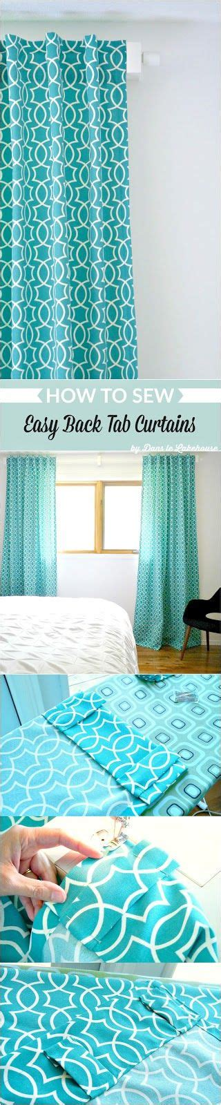 how to sew back tab curtains 25 best ideas about tab curtains on pinterest how to