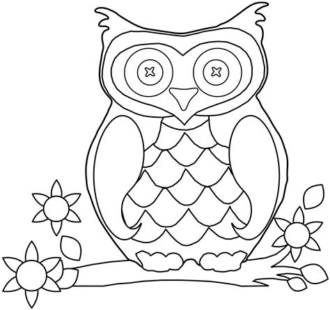Pictures Of Owls To Color by Picture Of An Owl To Color Free Coloring Pages On