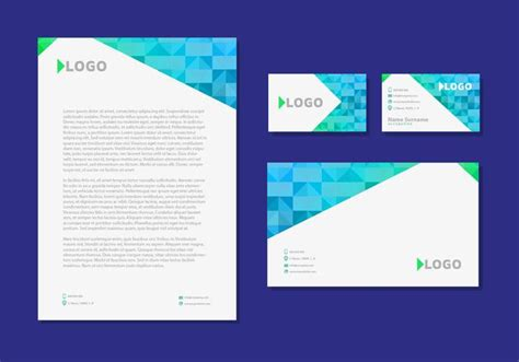business card and stationery template letter design business cards corporate identity