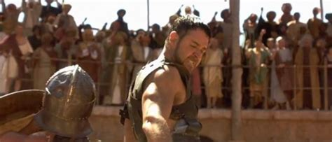 film gladiator which was released in 2000 photo of russell crowe portraying quot maximus quot in
