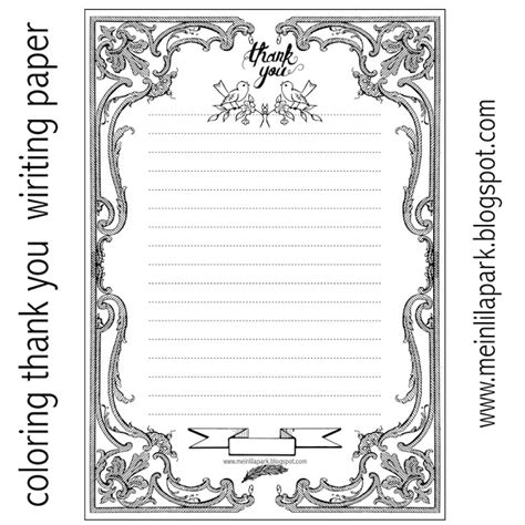 free printable thank you writing paper ausruckbares briefpapier freebie meinlilapark