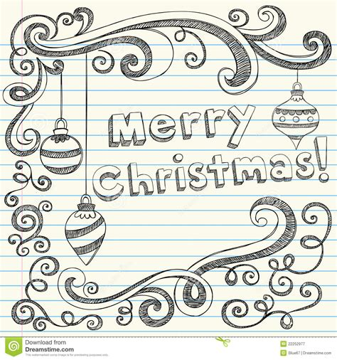 doodle merry merry sketchy doodles royalty free