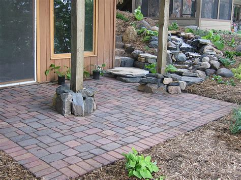 pictures of patios made with pavers waterfall and paver patio flickr photo