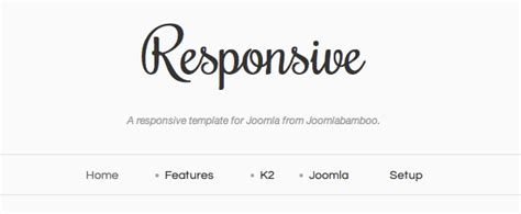skeleton responsive template a responsive skeleton joomla template joomlabamboo