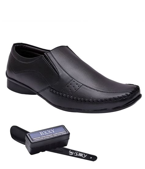 buy bxxy black formal shoes for snapdeal