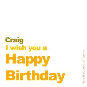 happy birthday craig free e cards