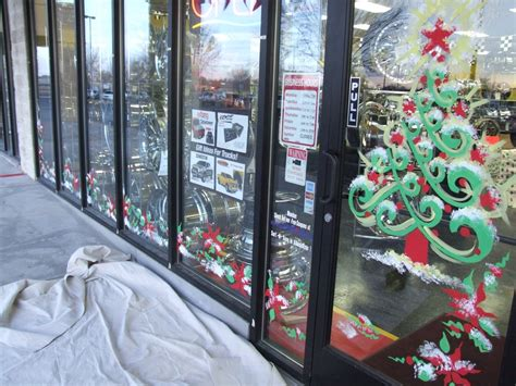 window painting for christmas rent n go