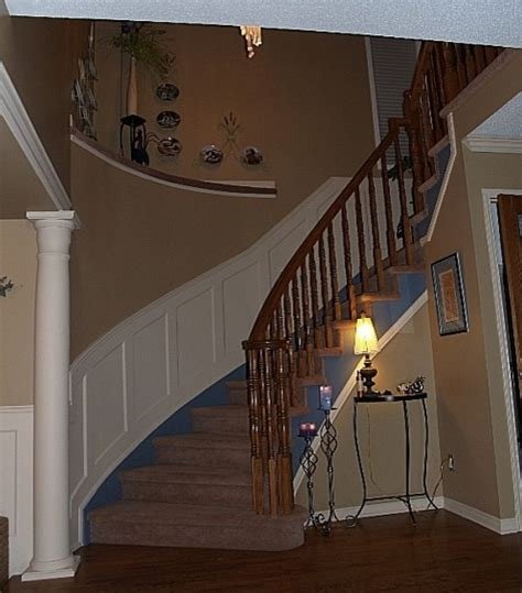 wainscotting stairs recessed paneled wainscoting for stairs traditional